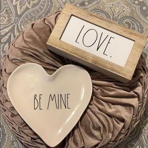 Brand New Rae Dunn Set Love & Be Mine Decor Accent